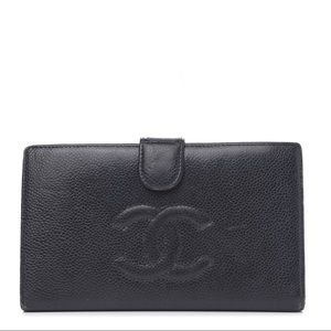 Chanel CC Caviar French Timeless Wallet Black